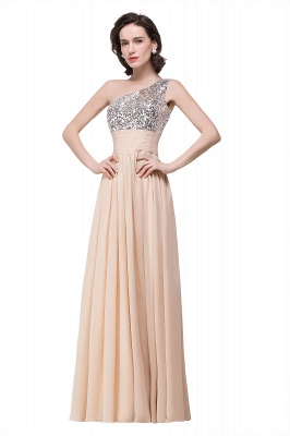 ADELYN | A-line Floor-length Chiffon Evening Dress with Sequined_5