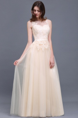 ATHENA   A-line Floor-Length Tulle Prom Dress With Lace_4