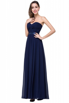 ADELINA | A-line Strapless Chiffon Bridesmaid Dress with Draped_7