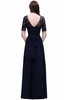 AUBRIELLE | A-line Scoop Chiffon Elegant Prom Dress With Lace_10