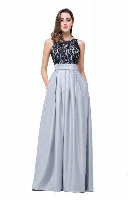 ELLIE   A-line Floor-length Crew Chiffon Lace Bridesmaid Dresses_7