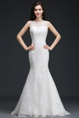 AMELIA | Mermaid Sweep Train Lace New Arrival Wedding Dresses with Buttons