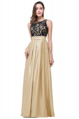 ELLIE   A-line Floor-length Crew Chiffon Lace Bridesmaid Dresses_1
