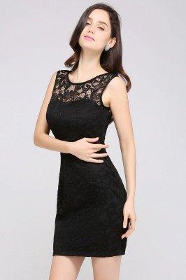 ARYA | Sheath Scoop Black Lace Cheap Homecoming Dresses_8