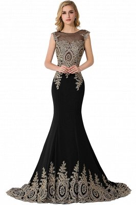 ADALINE | Mermaid Court Train Chiffon Evening Dress with Appliques_6