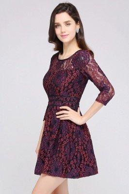 ANNIKA | A-line Scoop Short Lace Cocktail Dresses_2