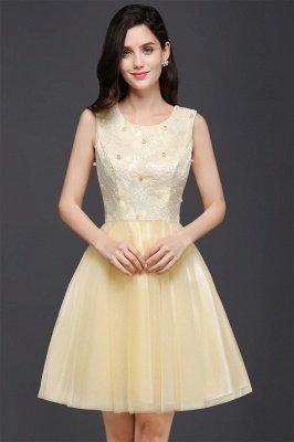 CLARA | Princess Scoop neck Knee-length Tulle Prom Dress_4