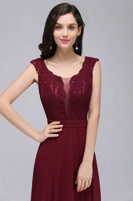CORINNE   A-line Floor-length Lace Burgundy Elegant Prom Dress_11