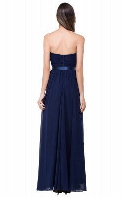 ADELINA | A-line Strapless Chiffon Bridesmaid Dress with Draped_6
