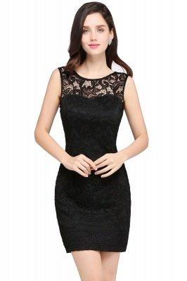 ARYA | Sheath Scoop Black Lace Cheap Homecoming Dresses_5