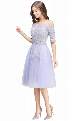 ADILYNN | A-line Bateau Tulle Prom Dress with Appliques_8