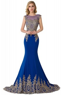 ADALINE | Mermaid Court Train Chiffon Evening Dress with Appliques_7