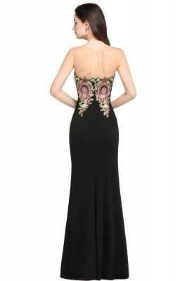 ALYSON | Sheath Straps Floor Length Black Evening Dresses with Appliques_2