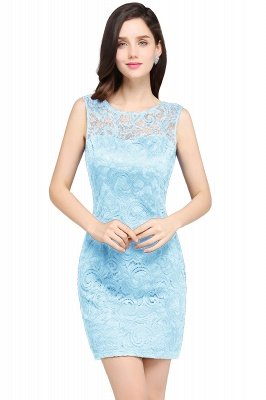 ARYA | Sheath Scoop Black Lace Cheap Homecoming Dresses_4