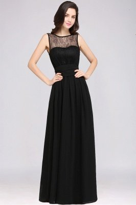 CHARLOTTE |A-line Floor-length Chiffon Sexy Black Prom Dress