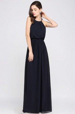 CHEYENNE   A-line Floor-length Chiffon Navy Blue Simple Prom Dress_12