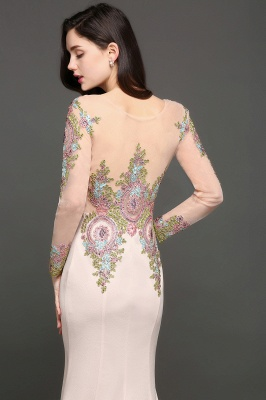 ALMA | Mermaid Scoop Pearl Pink Evening Dresses with Appliques_2