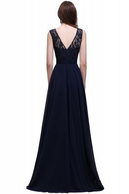 AUDRINA | A-line Scoop Chiffon Prom Dress With Lace_5