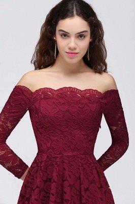 BRINLEY   A-Line Off-the-Shoulder Short Lace Burgundy Homecoming Dresses_5