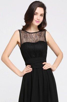 CHARLOTTE |A-line Floor-length Chiffon Sexy Black Prom Dress_9
