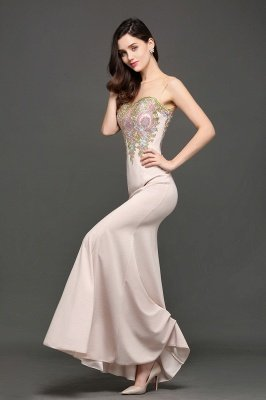 ALLISON | Mermaid Floor Length Pearl Pink Evening Dresses with Appliques_5