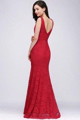 CLARISSA  Mermaid Floor-length Lace Red Prom Dress_6