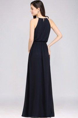 CHEYENNE   A-line Floor-length Chiffon Navy Blue Simple Prom Dress_9