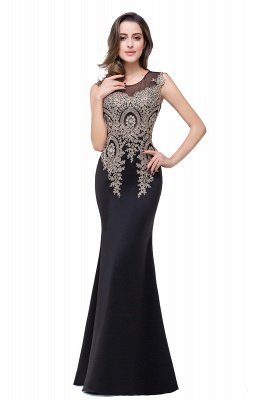 ADDISYN | Mermaid Floor-length Chiffon Evening Dress with Appliques_11