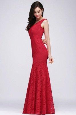 CLARISSA  Mermaid Floor-length Lace Red Prom Dress_5