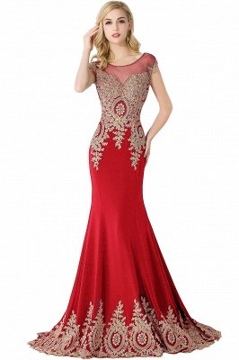 ABIGAIL | Mermaid Court Train Chiffon Evening Dress with Appliques_1