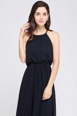 CHEYENNE   A-line Floor-length Chiffon Navy Blue Simple Prom Dress_13