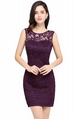 ARYA | Sheath Scoop Black Lace Cheap Homecoming Dresses_2