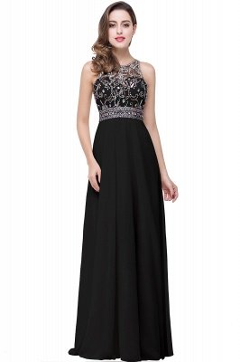 Light-Champagne Sleeveless Crystals Chiffon Long Prom Dresses_3
