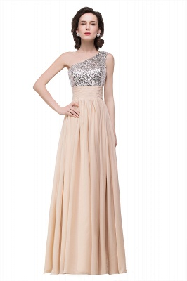ADELYN | A-line Floor-length Chiffon Evening Dress with Sequined_3
