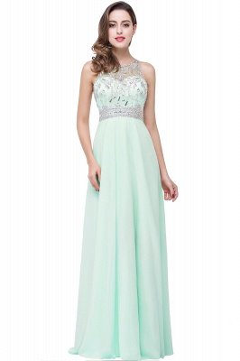Light-Champagne Sleeveless Crystals Chiffon Long Prom Dresses_4