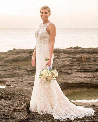 Vestidos de novia baratos de la envoltura de las correas del cordón elegantes | Apliques sin mangas hasta el suelo vestidos de novia_3