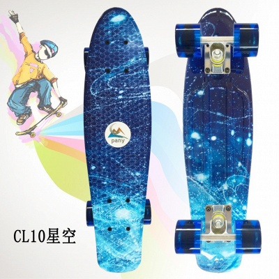 """Skateboards Complete 22"""" Skateboard with LED Wheels for Teens Adults Beginners Girls Boys Kids"""