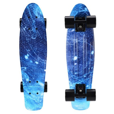 Starry Sky Skateboard Complete with LED Wheels for Kids Teens Boys Girls Beginners_2