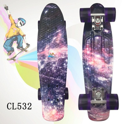 Starry Sky Skateboard Complete with LED Wheels for Kids Teens Boys Girls Beginners_5