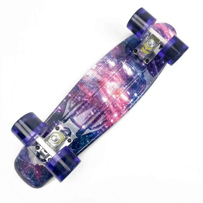 Starry Sky Skateboard Complete with LED Wheels for Kids Teens Boys Girls Beginners_4