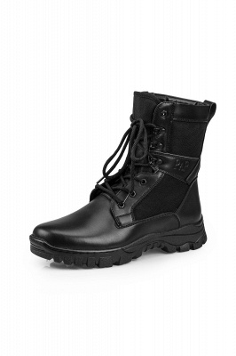 Men's Motorcycle Tactical Combat Boots Lace-up Boot_2
