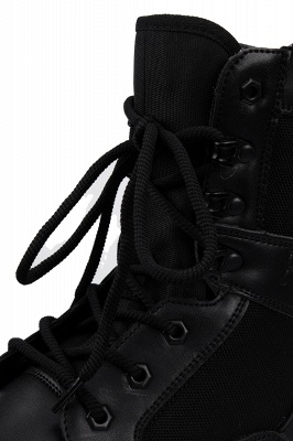 Men's Motorcycle Tactical Combat Boots Lace-up Boot_5