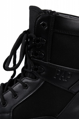 Men's Motorcycle Tactical Combat Boots Lace-up Boot_6