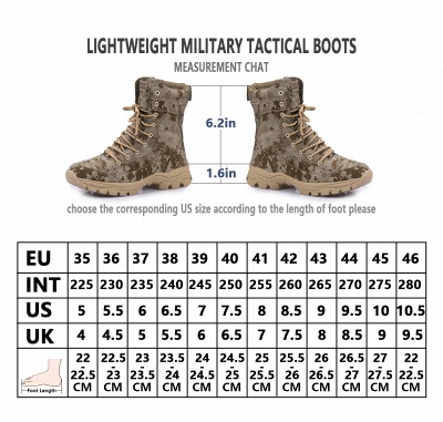 Ankle Combat Boots Waterproof Tactical Work Boot Lace Up Outdoor Boots_3