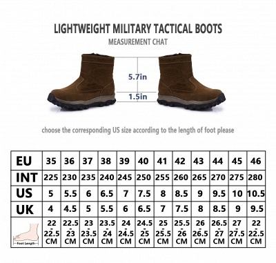 Mens Brown Lightweight Tactical Boot Leather Backpacking Boots_12