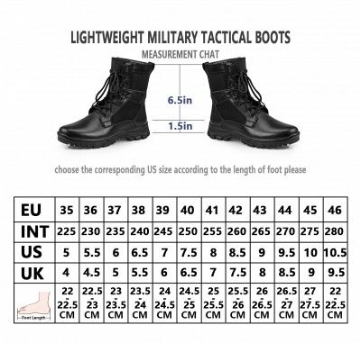Bottes de combat tactiques de moto pour hommes, bottes à lacets_10