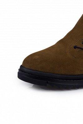 Brown Side Zip Work Boot für Männer Rutschfester Samt Reißverschluss Wollstiefel_3