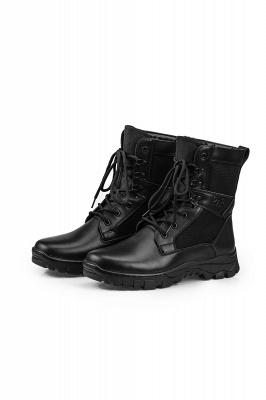 Men's Motorcycle Tactical Combat Boots Lace-up Boot