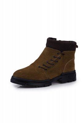 Brown Side Zip Work Boot für Männer Rutschfester Samt Reißverschluss Wollstiefel_2