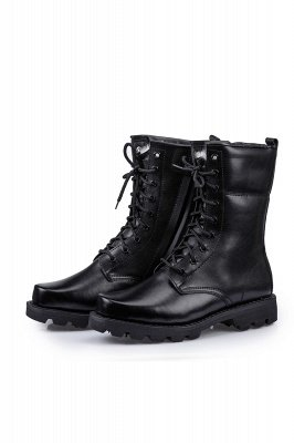 Men's Tactical Boots Black Lightweight Jungle Boots Work Boots Side Zipper